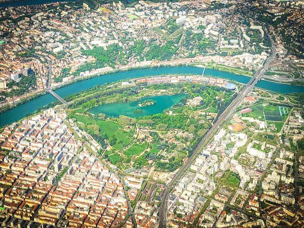 Lyon photographie photographe aparisi parc de la tête d'or vue aérienne