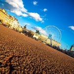 Place bellecour Lyon wide angle grand angle grande roue